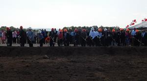 Tractor Supply Company's Northeast Distribution Center Groundbreaking Ceremony. Photo Courtesy of Times Telegram