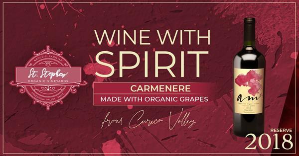 St. Stephen Vinyeards Am Carmenere 2018 Organic Wine