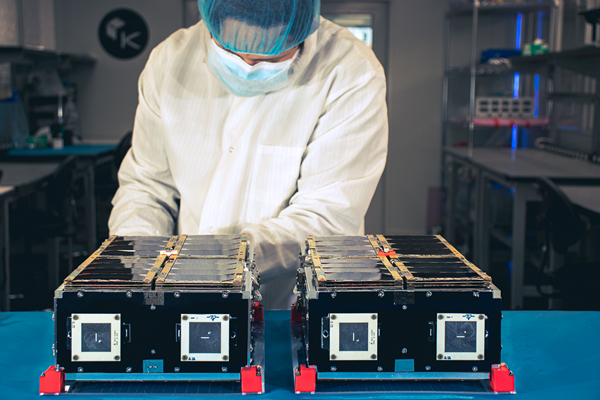 Kepler-16 & Kepler-17 being tested by a technician