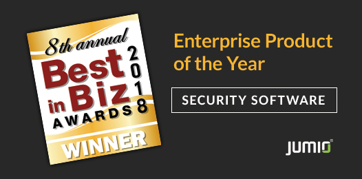 Jumio named gold winner in the Enterprise Product of the Year - Security Software category in the Best in Biz Awards 2018