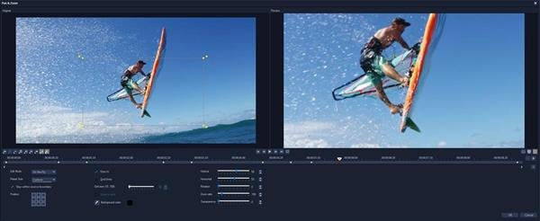 VideoStudio Ultimate 2018 Pan and Zoom Controls