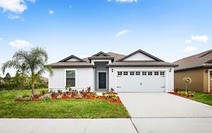 The Capri plan by LGI Homes offers 5 bedrooms, 3 baths and a spacious large kitchen island with breakfast bar.