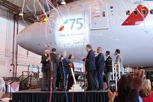 AMERICAN AIRLINES HONORS JFK TEAM MEMBER AL BLACKMAN FOR 75 YEARS OF SERVICE WITH DEDICATION OF BOEING 777-200
