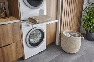 Bosch is proud to manufacture ENERGY STAR-certified appliances such as a complete line up of dishwashers, refrigerators, and laundry units, including the 500 Series compact laundry pair with heat pump drying technology that was recently awarded as the Most Efficient of ENERGY STAR in 2021.