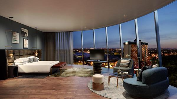Thompson San Antonio hotel junior suite rendering.