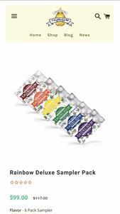 E-Commerce Snapshot: Rainbow Deluxe Sampler Pack
