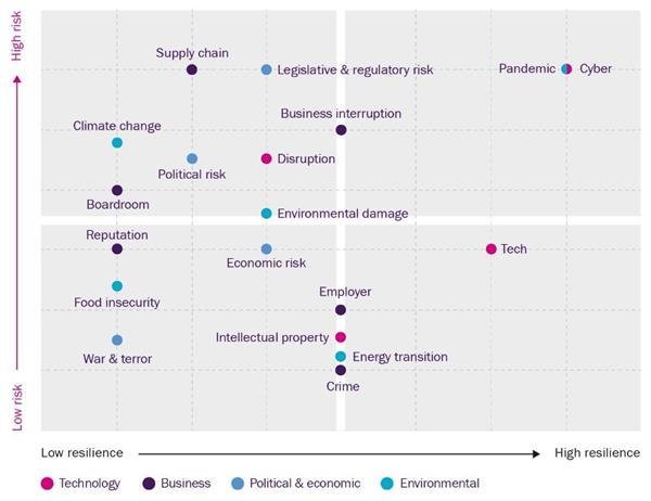 Risk-resilience matrix 2021