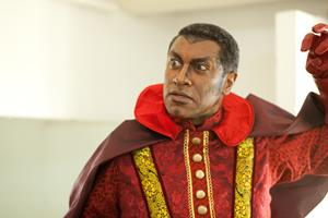 Mark S. Doss as Mephistopheles with Santa Fe Opera in Faust