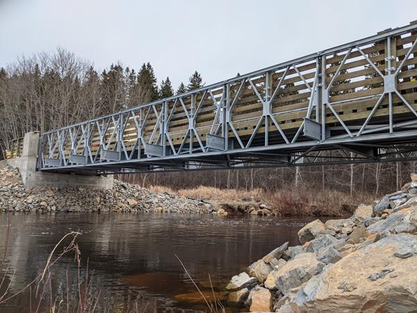 Permanent Acrow Bridge in New Brunswick, Canada