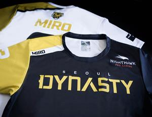 Overwatch League's Seoul Dynasty sponsored Nighthawk Pro Gaming Jersey