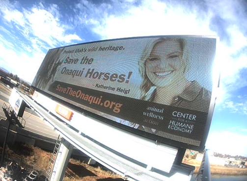 The first billboard with Katherine Heigl on May 25, 2021 in Salt Lake City, Utah.