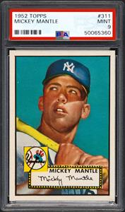 1952 Topps Mickey Mantle Card Sells For 288 Million Nasdaq