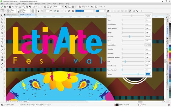 CorelDRAW Graphics Suite 2020 for Windows Variable Fonts