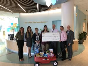 Northwest Credit Union Association and Mountain America Credit Union presented a $21,068 check to Primary Children's Hospital on May 14, 2018.