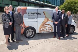 L to R: Sandi Macdonald, NC Symphony President/CEO; Don Davis, NC Symphony Board Chair; Grant Llewellyn, NC Symphony Music Director; Mike Lord, President/CEO of SECU and the SECU Foundation; McKinley Wooten, Jr., SECU and SECU Foundation Board member; and Jama Campbell, SECU Foundation Executive Director.