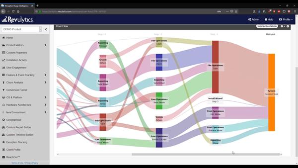 Revulytics User Flow Report