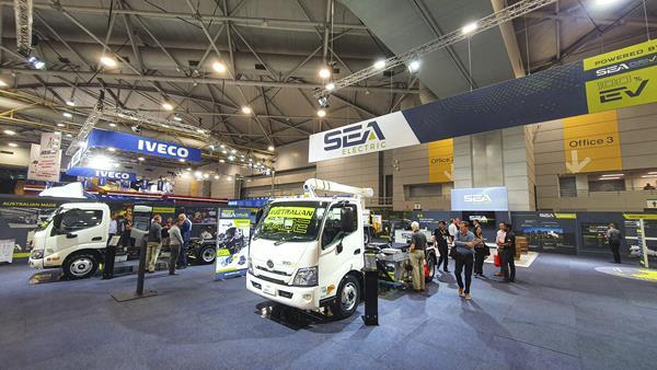 SEA Electric au Brisbane Truck Show 2021