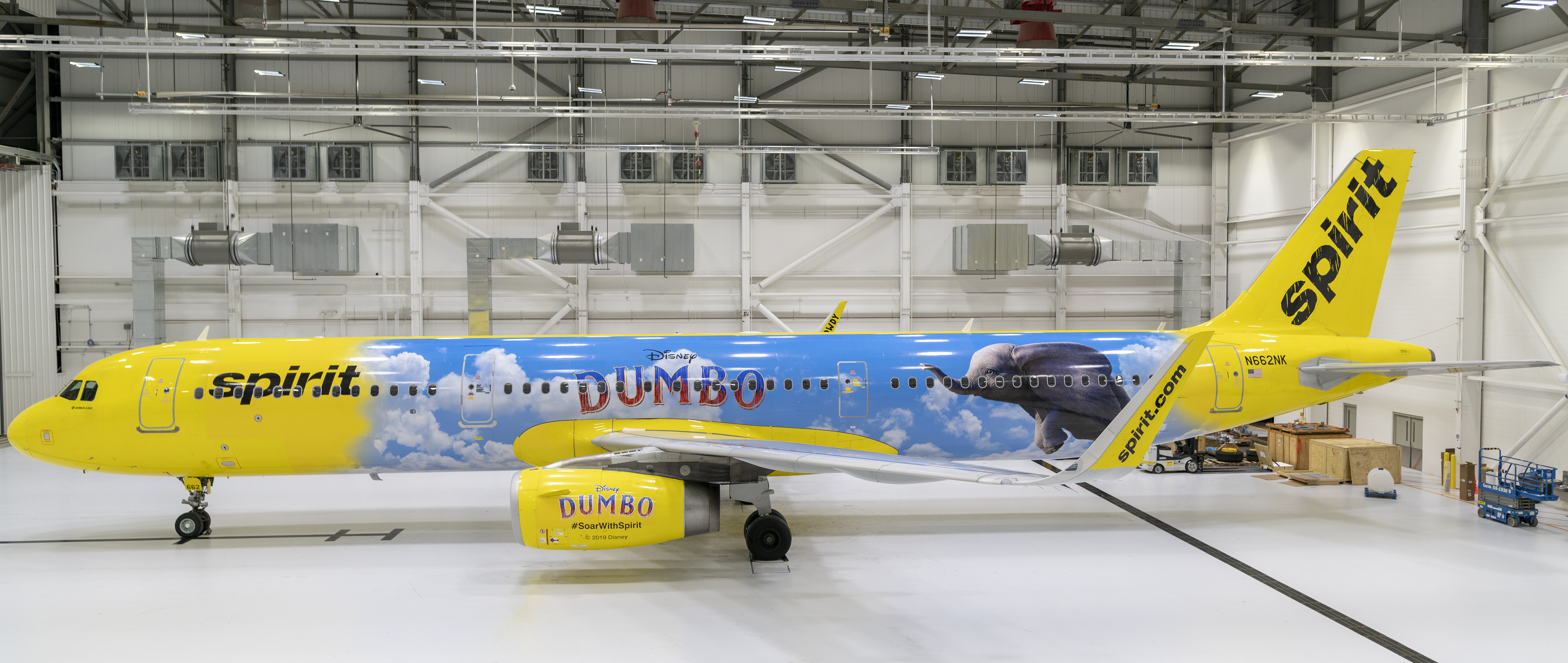 "Spirit Airlines A321 Featuring Disney's ""Dumbo"""