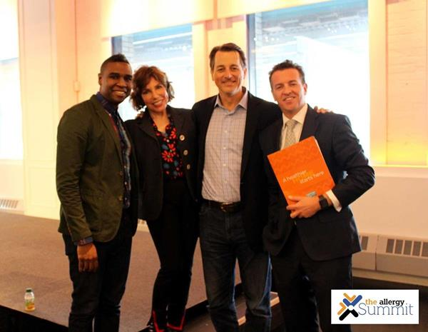 From left to right Bobby Jones, CMO, Peace First & Co-Author, Lesa Ukman, Lesa Ukman Partnerships®, Grady Lee, Co-Founder/CEO, Give2Get & Co-Founder/Chair, IMPACT2030 and Dr. John McKeon, CEO, Allergy Standards Limited