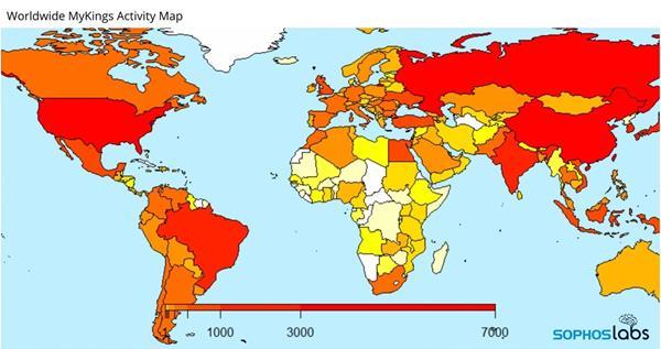 Worldwide MyKings Activity Map