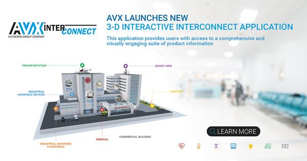 AVX Launches New 3-D Interactive Interconnect Application