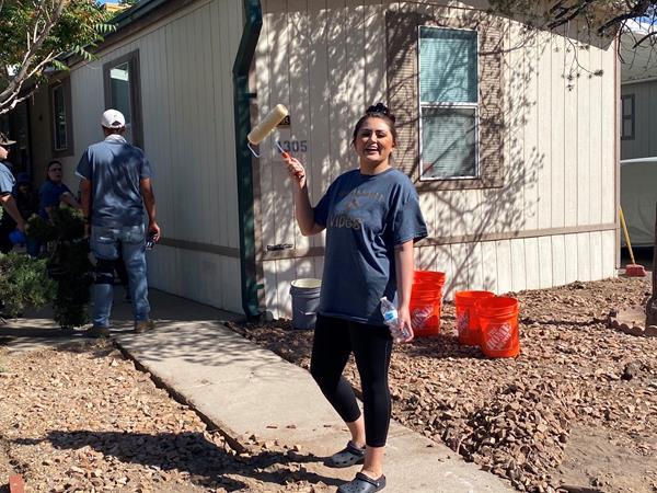 Desert Gardens team helps resident in need.