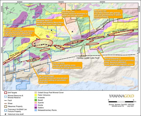 Wasamac Exploration Program Including Francoeur, Arntfield, and Lac Fortune