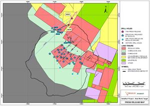 Drill hole location map - AntaKori Project