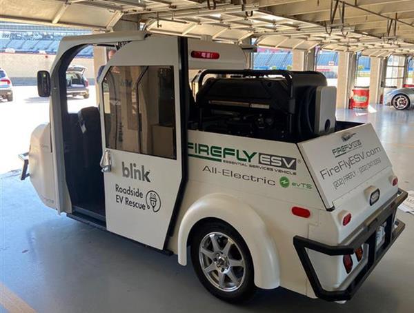 FireFly EV Roadside Assistance Vehicle with Blink Portable EV charger
