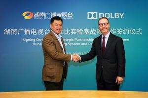 Dolby Laboratories and Hunan Broadcasting System Inked a Strategic Partnership in China