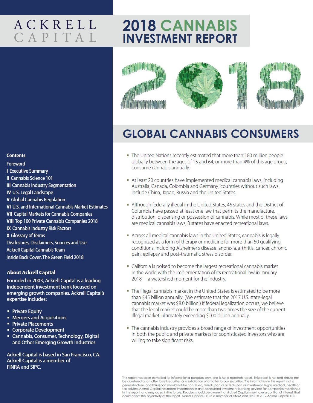 Ackrell Capital: 2018 Cannabis Investment Report