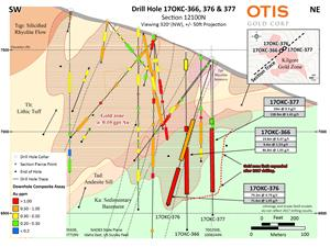 Drill Hole 17OKC-366, 376 & 377