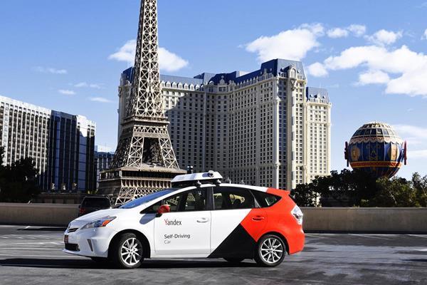 Yandex self-driving car in Las Vegas.