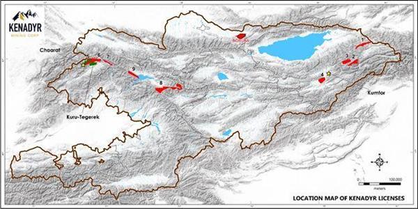 Location Map of Kenadyr Licenses