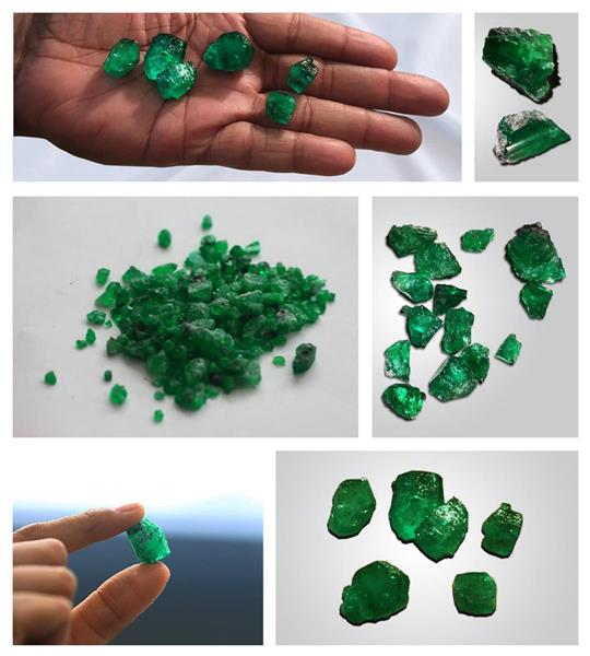 Emeralds production during Bulk Sampling Program