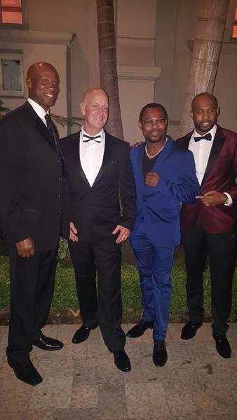 Steve supports many nonprofit organizations that help veterans, children, domestic violence, and sex trafficking victims. He has supported the Face Forward Foundation since 2016; he's pictured here at their annual gala with Byron Scott, Shane Mosley, and Nathan Palmer.