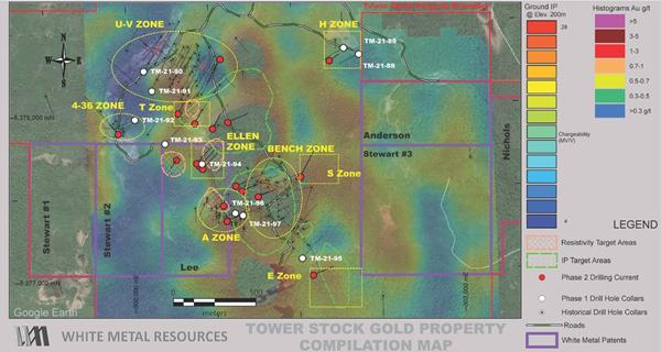 Tower Stock Gold Property Compilation Map