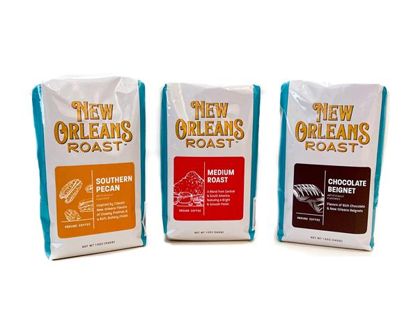 Walmart customers will be able to enjoy three flavorful blends of New Orleans Roast Coffee: Southern Pecan, Medium Roast, and Chocolate Beignet.