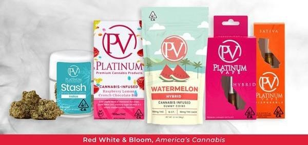 Image 1: A strategic selection of Platinum¡¯s popular vape products including Indica, sativa, hybrid, and other award- winning Platinum brand products
