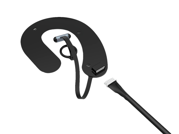 The Roo Transcutaneous Auricular Neurostimulation (tAN) earpiece delivers stimulation in and around the ear to activate nerve branches that release endogenous opioids (endorphins) which bind to the vacant opioid receptors and ease the withdrawal symptoms.