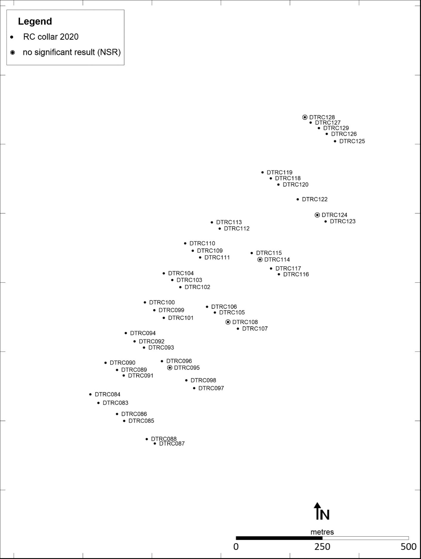 Figure 4 - Makosa North RC drillhole location map