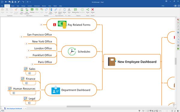 MindManager Windows 21 - Interface Image