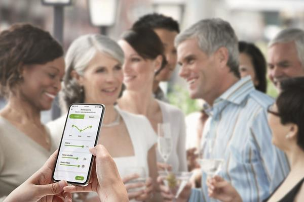 Through the myPhonak app, consumers can now easily adjust the level of background noise to personalize their listening experience.