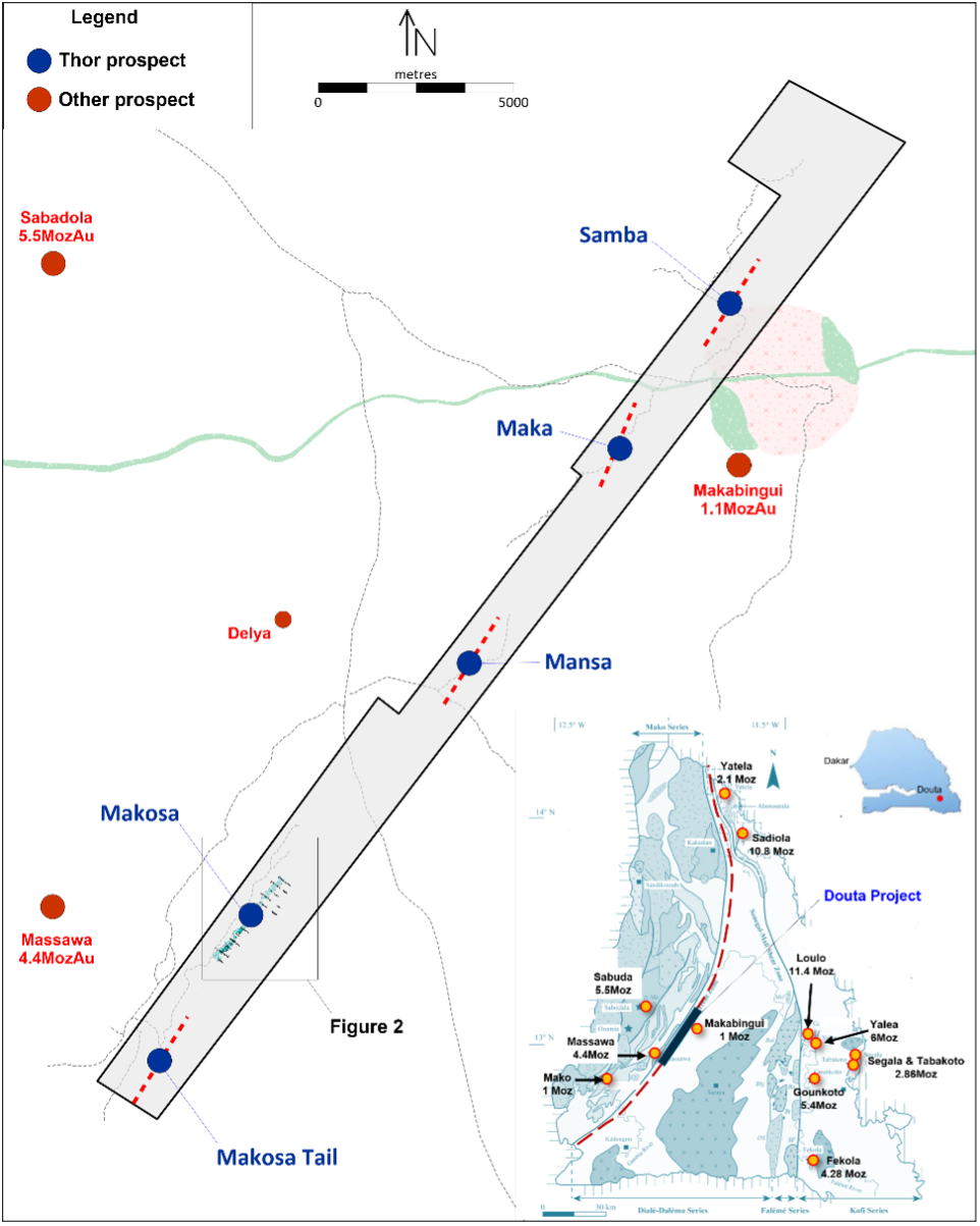Figure 1 - Douta Gold Project location map