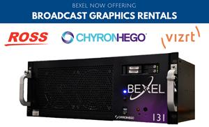 Bexel Expands Broadcast Graphics Rental Fleet to include VizRT Viz