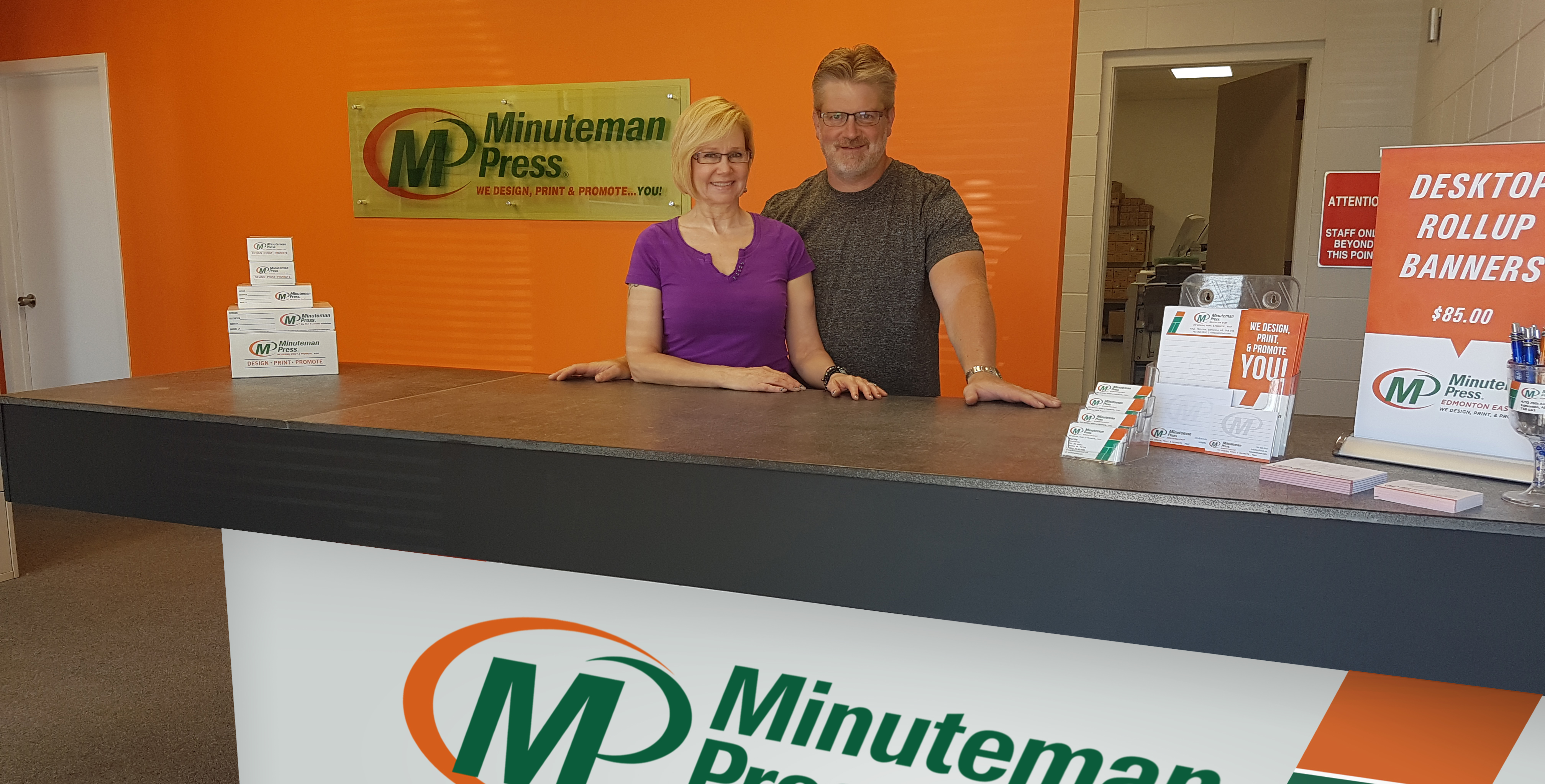 Minuteman Press Edmonton East Canada Printing Franchise - Alison Jack-Ray and Brad Ray http://www.minutemanpressfranchise.com