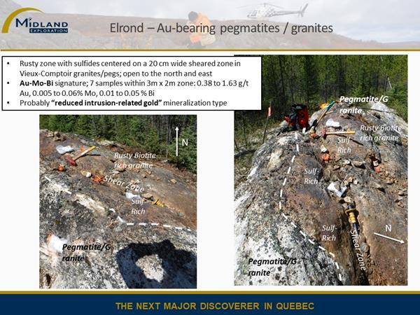 Figure 4 Elrond Au -bearing pegmatites-granite