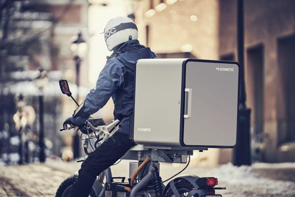 Dometic's revolutionary DeliBox is designed to preserve the quality and temperature of food or other perishables seamlessly throughout the delivery process. Photo courtesy of Dometic.