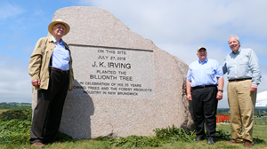 JK Irving and Sons with Billionth Tree Commemorative Rock