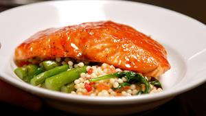 Cherry Chipotle Glazed Salmon
